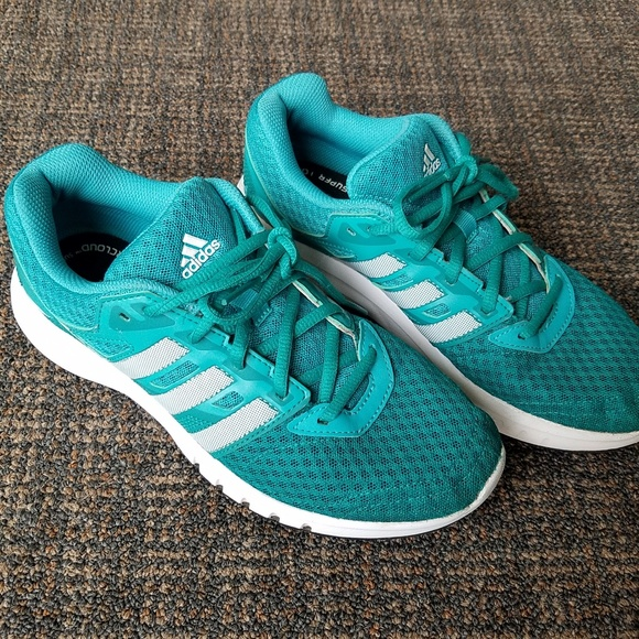 Adidas Galaxy 2 Women/'s Supportive Running Trainers Turquoise /& White AF5572